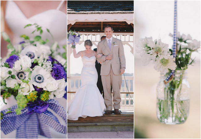 Pretty Purple and Cream Gingham Farm Wedding {Audra Starr Photography}