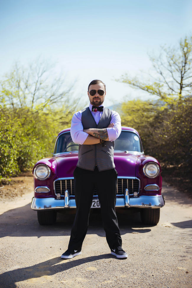 Pink Chevy // Rockabilly Wedding Ideas // Claire Thompson photography