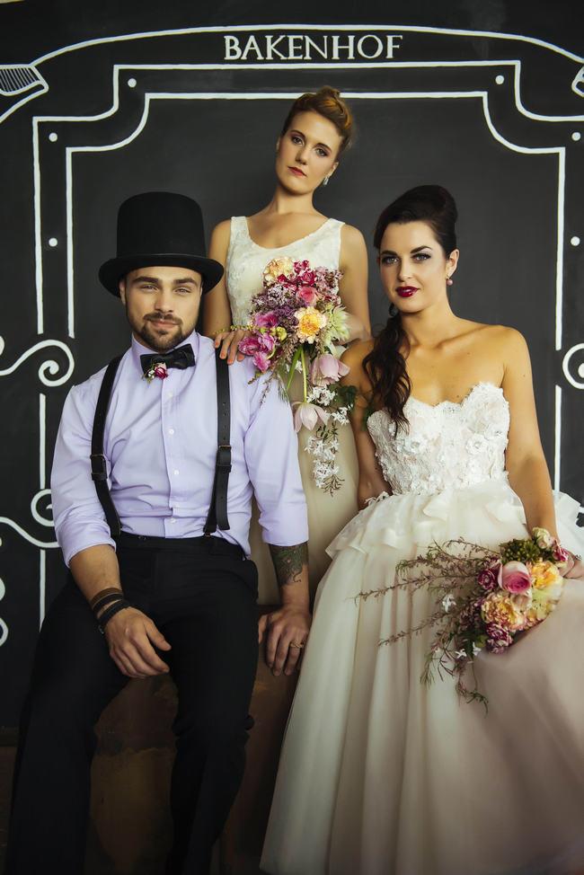 Chalkboard Photograph Backdrop // Rockabilly Wedding Ideas // Claire Thompson photography