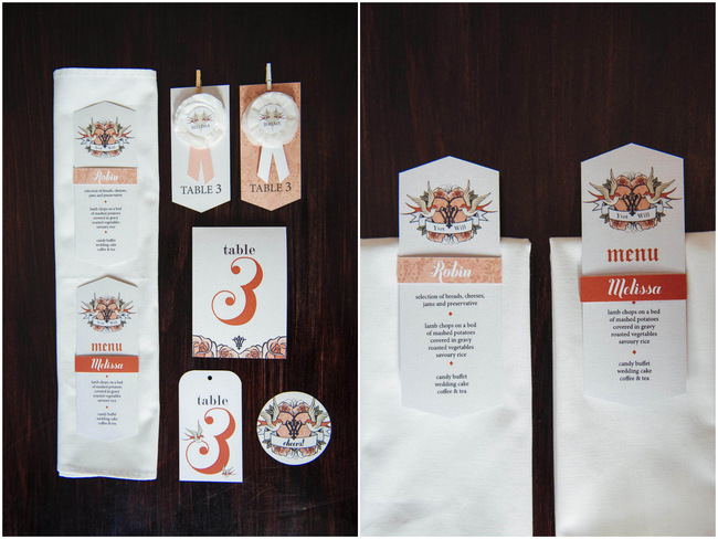 Wedding Invitations and Paper Goods // Rockabilly Wedding Ideas // Claire Thompson photography