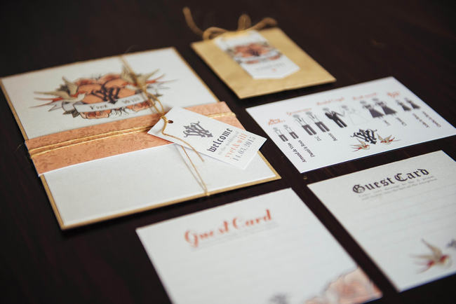 Wedding Invitations // Rockabilly Wedding Ideas // Claire Thompson photography