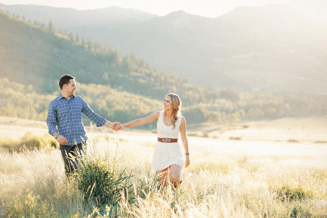 Romantic Summer Engagement Photography {Gideon Photography}