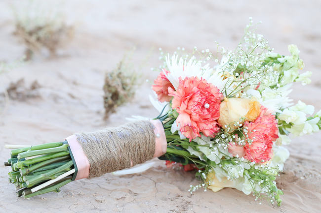 Handmade Peach Garden Weddding Bouquet
