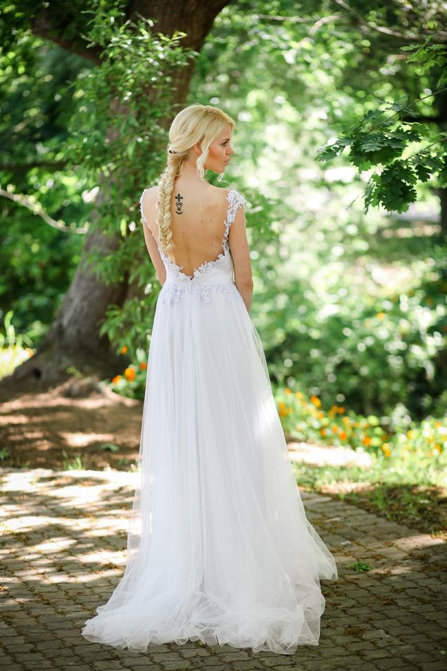 Whimsical Garden Wedding In Peach And Silver Grey Nikki