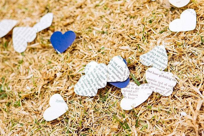 Vintage DIY Paper confetti // Yellow and Grey DIY Vintage Wedding // Miracles Photo
