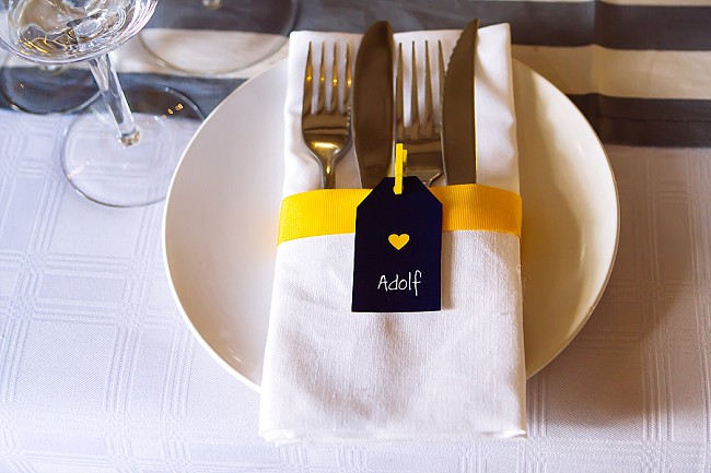 Cutlery // Yellow and Grey DIY Vintage Wedding // Miracles Photo