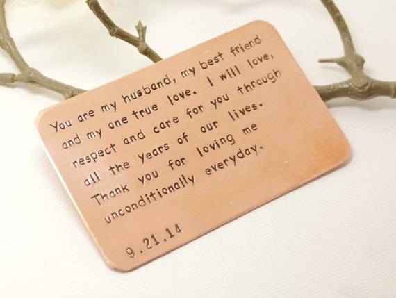 Christmas Gifts for Him That Dont Suck: This engraved card is inserted into his wallet so that he'll always know how much you care