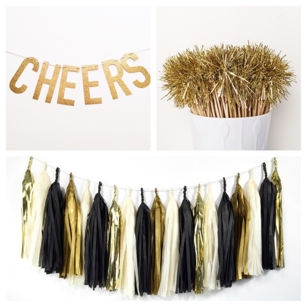 DIY New Years Party Ideas Gold