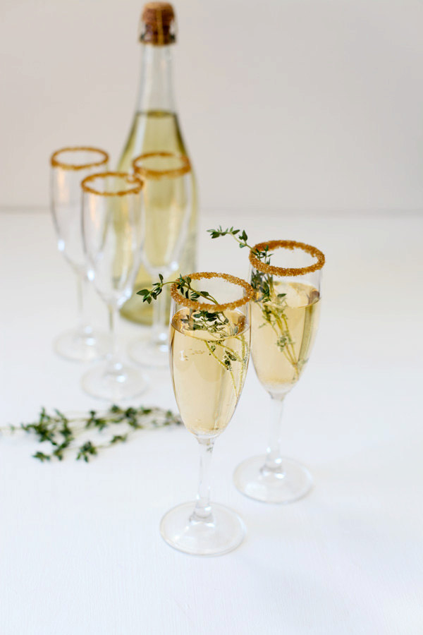 DIY New Years Party Ideas Gold Sugar Glitter
