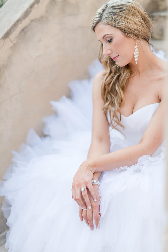 Spectacular ruffled, fluffu Maggie Sottero wedding dress // Lightburst Photography