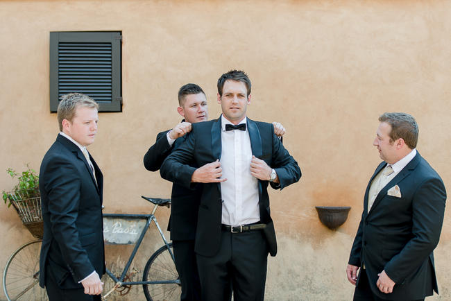 Groom getting ready // // Lightburst Photography