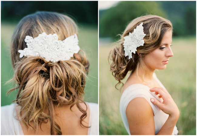 Long Wavy Curly Down Wedding Hairstyle With Hairpiece