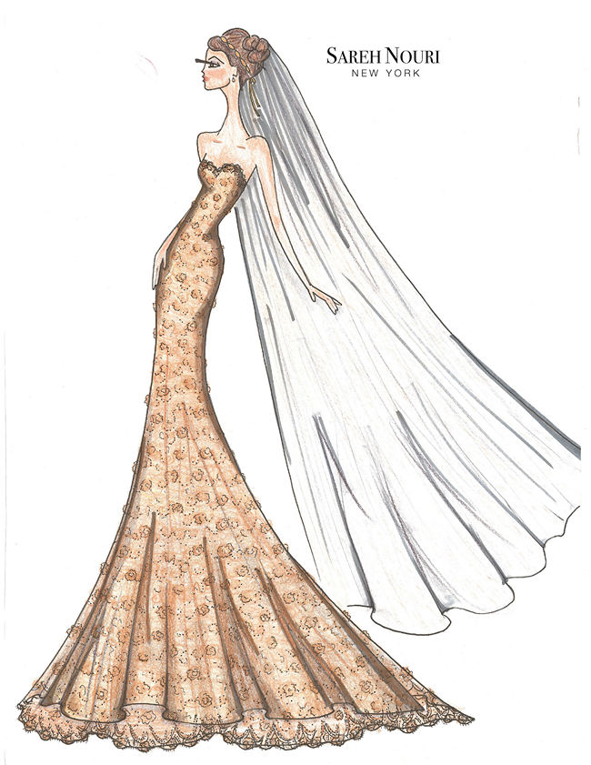 Wedding Dress Designer Sketches 10
