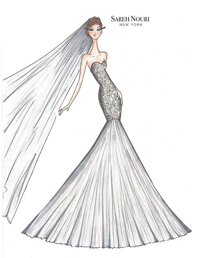 From Sketch To Gown Wedding Dress Designer Sketches By