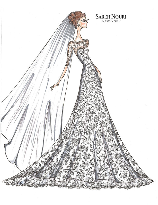 Wedding Dress Designer Sketches 1