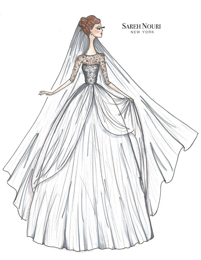 From Sketch to Gown: Wedding Dress Designer Sketches by ...