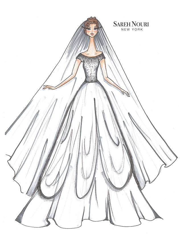 Wedding Dress Designer Sketches 5