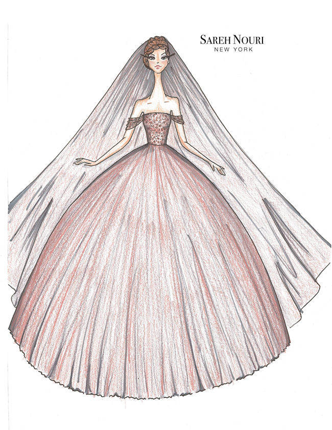 Wedding Dress Designer Sketches 9