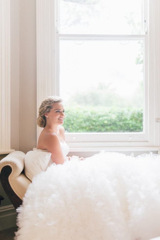 Ruffled tulle, sweetheart neckline, strapless wedding dress from Blush Bridal // Dehan Engelbrecht Photography