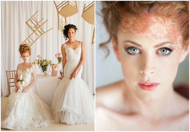 Gold, Cream and Blush Whimsical Wedding with Airbrushed Lace Tattoo! {ST Photography}
