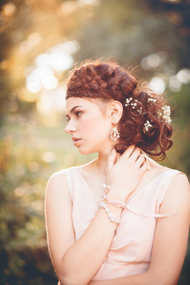 Boho rope braid updo // Luxe Handcrafted Heirloom Wedding Jewelry by Edera Jewelry // La Candella Weddings Photography