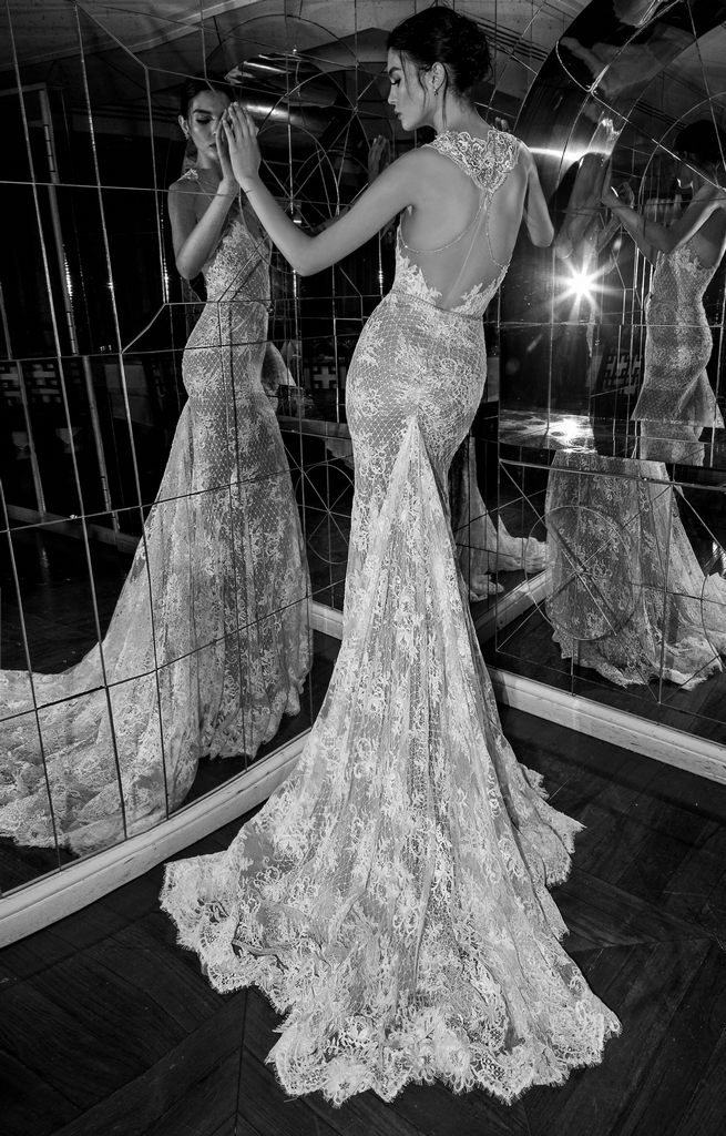 Backless lace Inbal Dror Wedding Dresses 2015