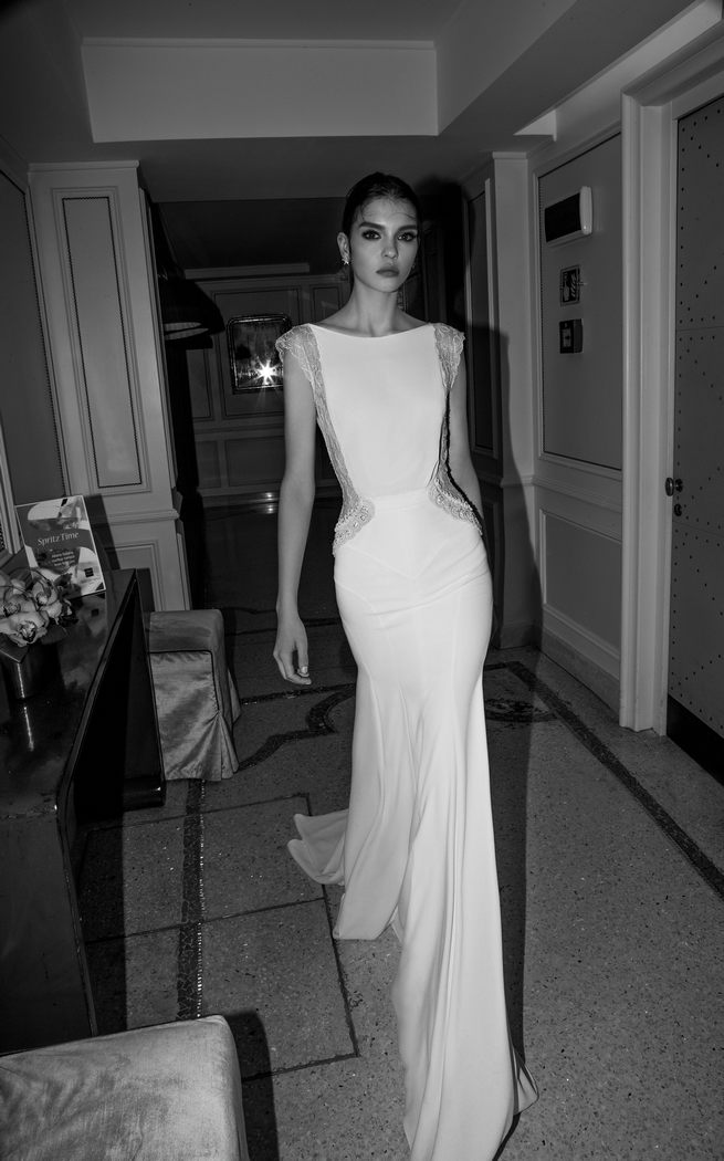 Sheer side panel: Inbal Dror Wedding Dresses 2015