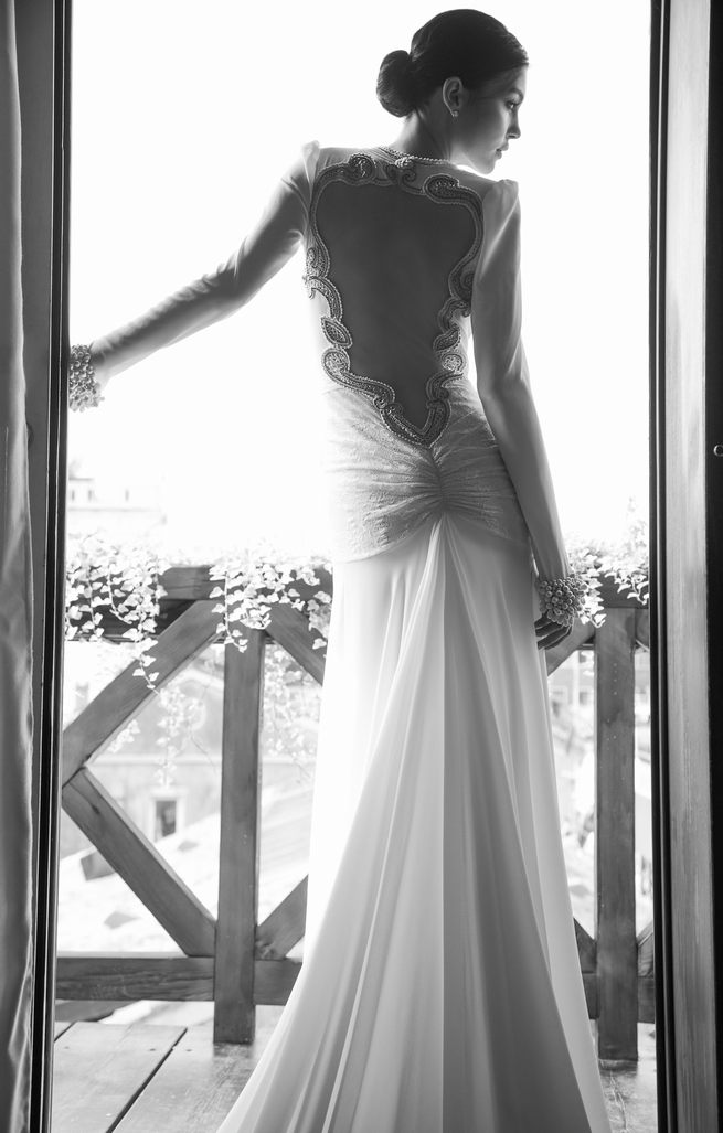 Amazing, elegant backless Inbal Dror Wedding Dresses 2015