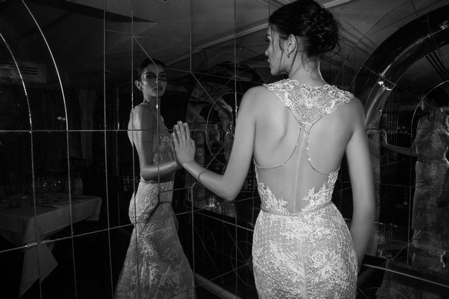 Open backed, lace Inbal Dror Wedding Dresses 2015