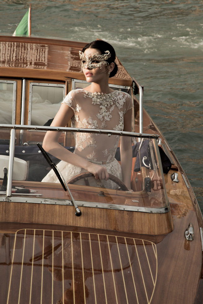 Illusion Lace Inbal Dror Wedding Dresses 2015