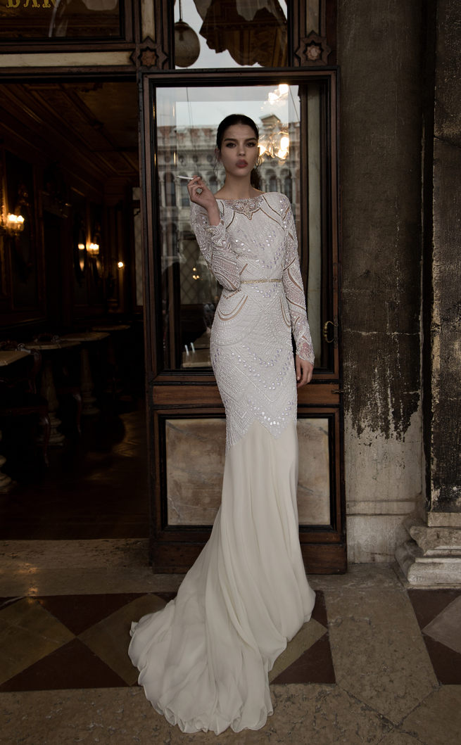 Long Sleeved Inbal Dror Wedding Dresses 2015