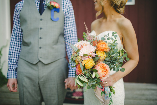 Mint Navy DIY Farm Wedding (50)