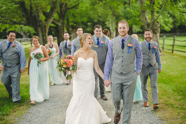 Mint Navy DIY Farm Wedding (65)