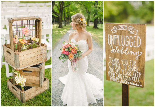 Mint Navy DIY Farm Wedding