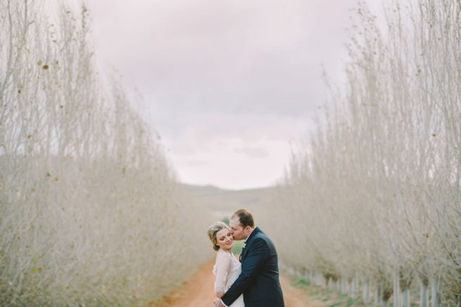 Couple photographs. Click to see this gorgeous Navy Gold Wedding at Babylonstoren / Charlene Schreuder Photography