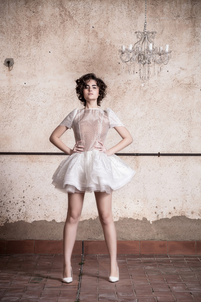 Short, chic, Ramon Herrerías Wedding Dresses