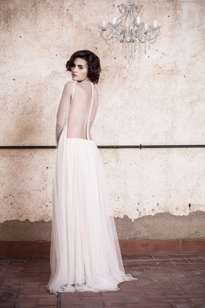 Open backed illusion Ramon Herrerías Wedding Dresses
