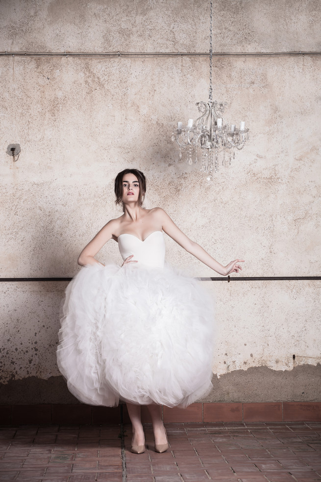 Fluffy tulle wedding dress - a short, sassy, ballgown! Ramon Herrerías Wedding Dresses