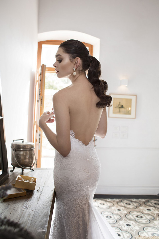 Backless Riki Dalal 2015 Wedding Dress: Strapless Sweetheart neckline with plunging v front