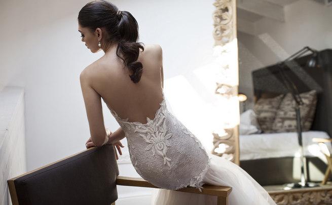 Backless Riki Dalal 2015 Wedding Dress