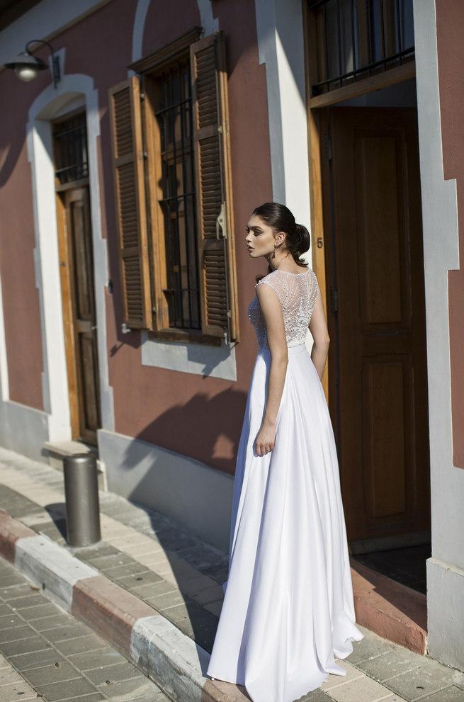 Full length skirt an sheer embroidered bodice. Riki Dalal 2015 Wedding Dress Seperates