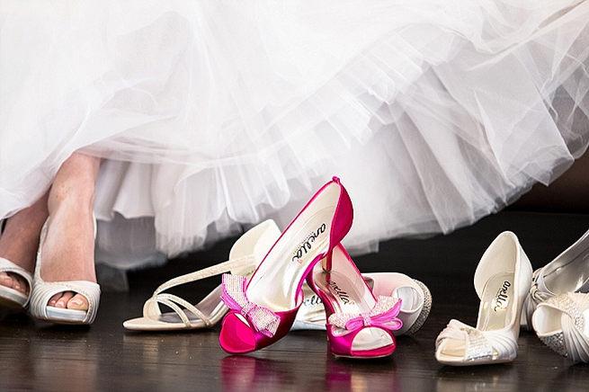 Bridal footwear by Anella wedding shoes. Soft Pink and Gold Wedding by Samanatha Jackson Photo