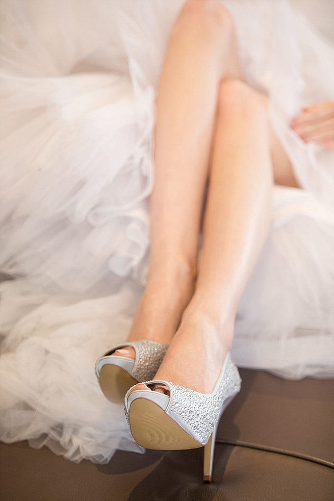 Love these sparkly shoes by Anella wedding shoes! Soft Pink and Gold Wedding by Samanatha Jackson Photo