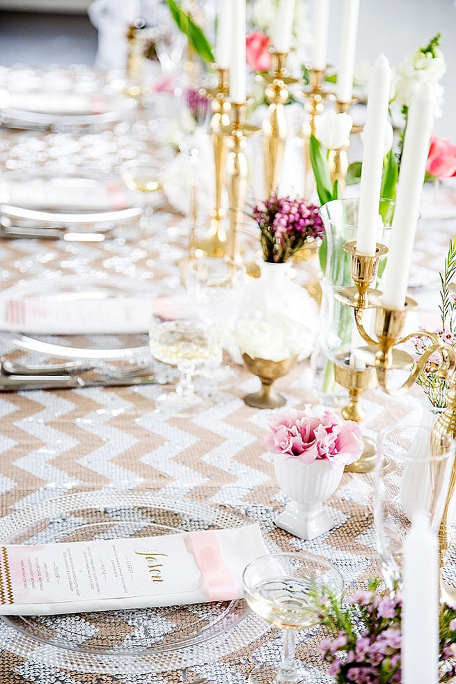 Soft Pink Gold Wedding