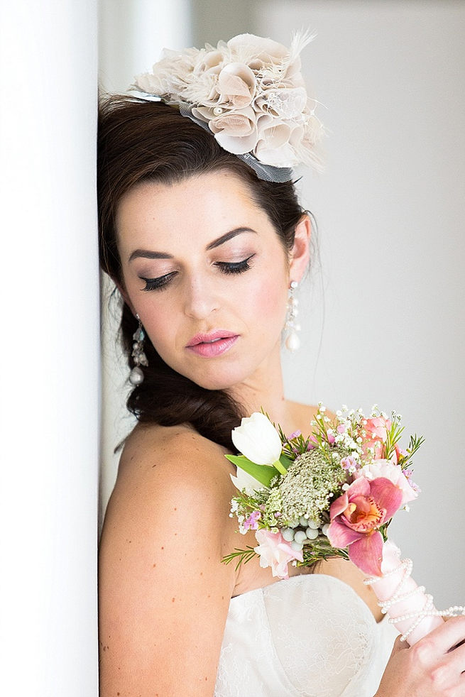 Lovely bridal make up and hair styling! Soft Pink and Gold Wedding by Samanatha Jackson Photo