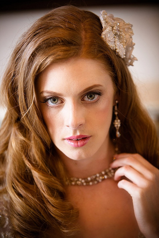 Wedding earrings and necklace. So pretty! Soft Pink and Gold Wedding by Samanatha Jackson Photo