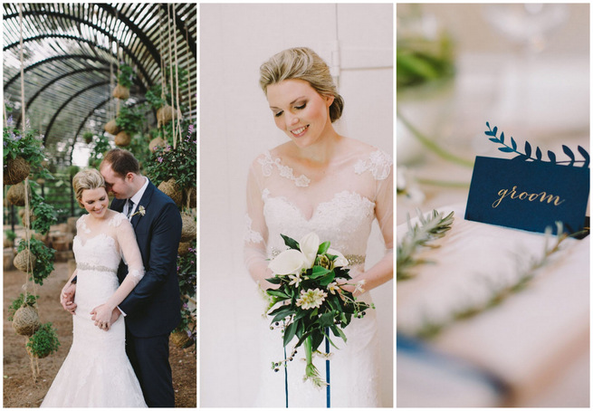 Elegantly Relaxed Navy & Gold Wedding at Babylonstoren {Charlene Schreuder Photography}