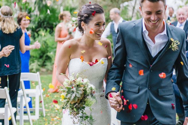 Succulent wedding bouquet // Succulent Garden Wedding // Claire Thomson Photography