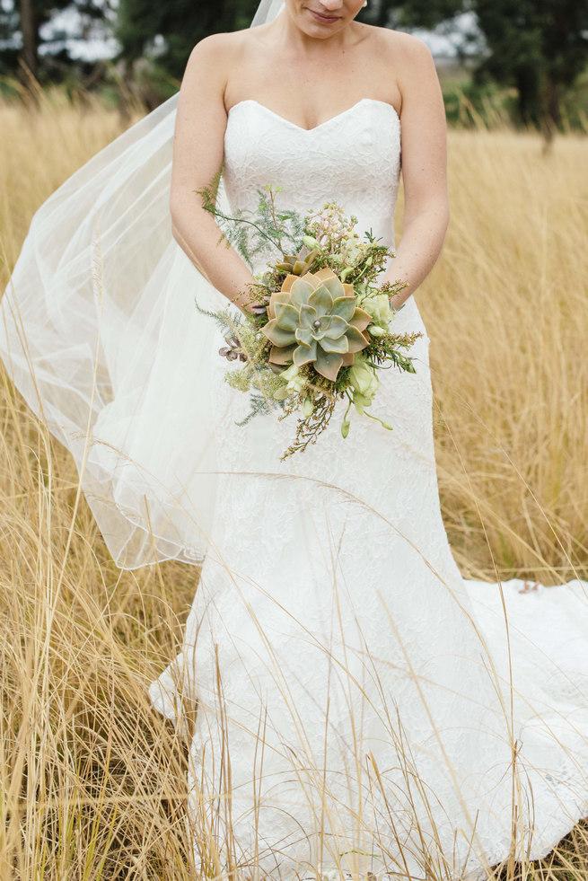Succulent bouquet // Succulent Garden Wedding // Claire Thomson Photography