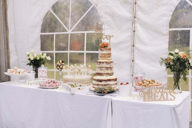 Sweet and dessert table Succulent Garden Wedding // Claire Thomson Photography